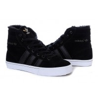 Кроссовки Adidas AdiTennis High Fur Black (черные)