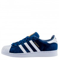 Кроссовки Adidas Superstar Suede Navy/White