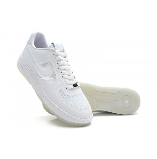 Кроссовки Nike Air Force Lunar Low White (белые)