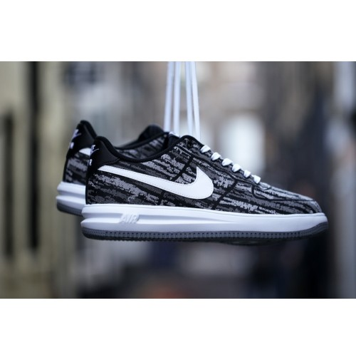 Кроссовки Nike Lunar Force 1 Jacquard Black/White