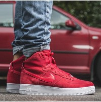 Кроссовки Nike Air Force High Red Suede