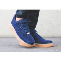 Кроссовки Nike Air Force 1 Suede Minight Navy/Gum Brown