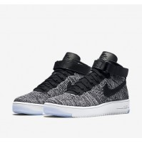 Кроссовки Nike Air Force 1 Ultra Flyknit Black/Grey