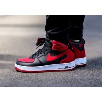 Кроссовки Кроссовки Nike Air Force 1 Mid Black/Red