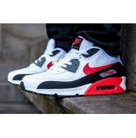 Кроссовки Nike Air Max 90 White/Black Cool Grey Challenge Red