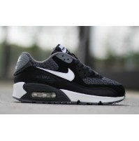 Кроссовки Nike Air Max 90 GS Woven White/Black/Grey