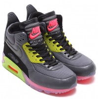 Кроссовки Nike Air Max 90 SneakerBoot Ice Dark Grey/Black/Force Green/Hyper