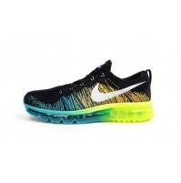 Кроссовки Nike Air Max Flyknit 2015 Black/Blue/Green