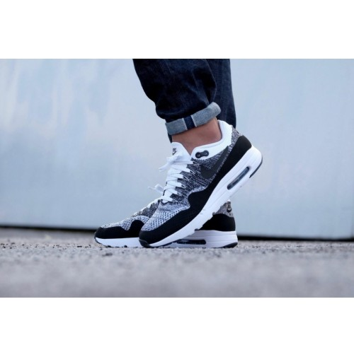 Кроссовки Nike Air Max 1 Ultra Flyknit White/Black/Black