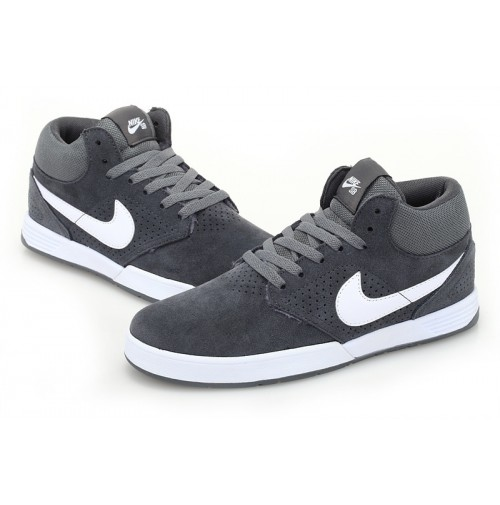 Кроссовки Nike Paul Rodriguez 5 mid Fur Grey (серые)