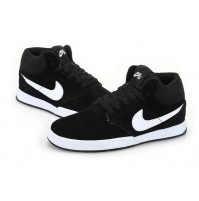 Кроссовки Nike Paul Rodriguez 5 mid Fur Black (черные)