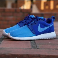Кроссовки Nike Roshe Run Hyperfuse Blue (синие)