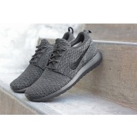 Кроссовки Nike Roshe Run Flyknit Triple Grey (серые)