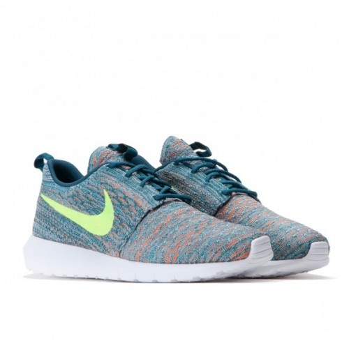Кроссовки Nike Roshe Run Flyknit Mineral Teal