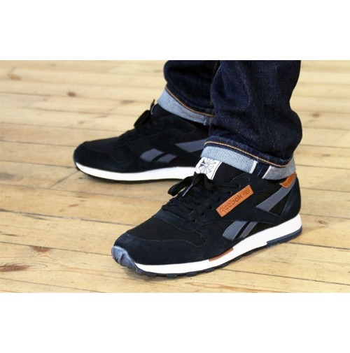 Кроссовки Reebok CL Leather Utility Black